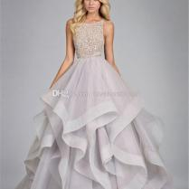 2014 Floor Length Ball Gown Wedding Dresses Scalloped Beading