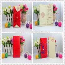 2015new Beauty Fancy Wedding Invitation Red Envelope Handmade