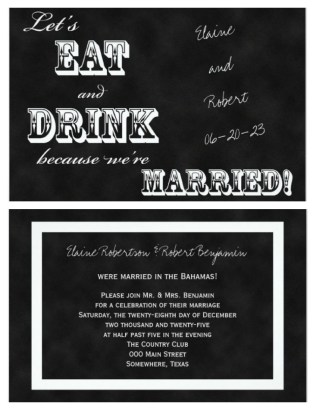 21 Beautiful At Home Wedding Reception Invitations