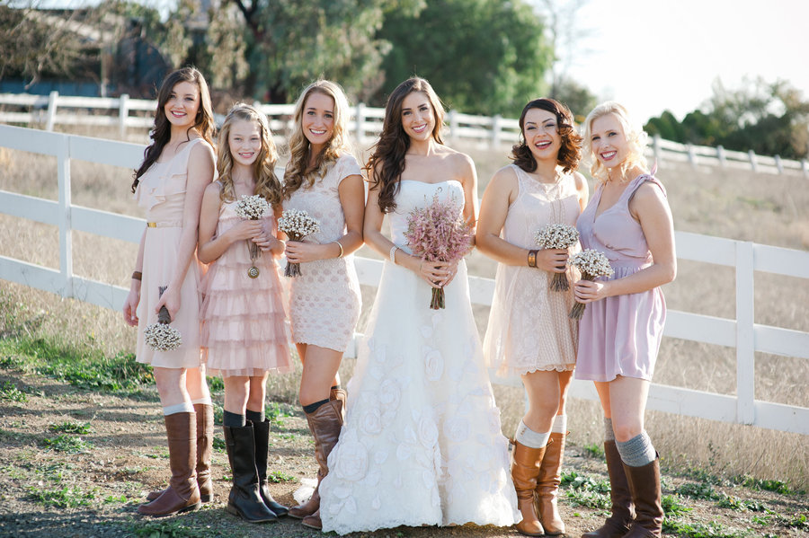 Country Style Wedding Attire