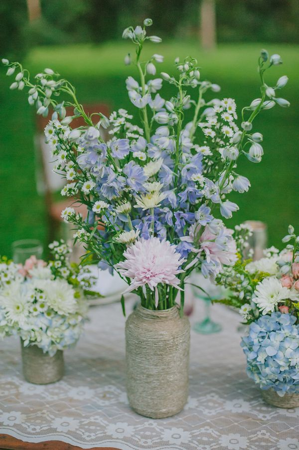 Wildflowers For Wedding Centerpieces