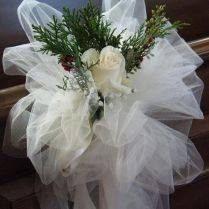 25 Best Images About Wedding Pew Decorations On Emasscraft Org!