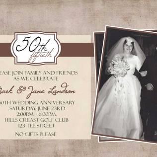 50th Wedding Anniversary Invitation – Fleeciness Info