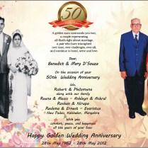 50th Wedding Anniversary Invitations Ideas Free Printable 25th