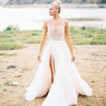 Aliexpress Com Buy Country Wedding Fashion Sheer Bridal Dress