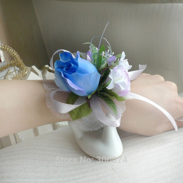Aliexpress Com Buy Prom Wrist Flower Corsage Wedding Flowers For