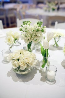 All White Wedding Centrepieces