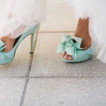 Aqua Blue Bridal Shoes