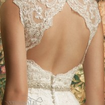 Backless Lace Full Length Wedding Dress With Train Dbw014 (3