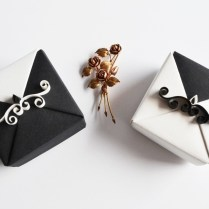 Black And White Origami Wedding Gift Box By Reversecascade On