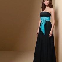 Black Bridesmaid Dresses With Colored Sash