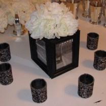 Black Photo Box, White Flowers