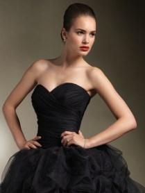 Black Sweetheart Neckline Ball Gown Wedding Dress