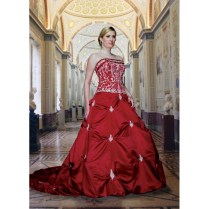 Black White Red Wedding Dress Luxurious A Line Sweetheart