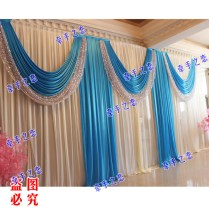 Blue Wedding Stage Party Backdrop Decoration Promotion