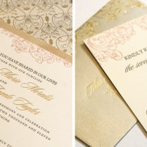 Blush And Gold Wedding Invitations