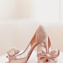Blush Colored Lace Bridal Shoes