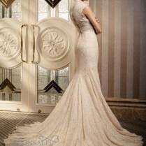 Cap Sleeve Lace Mermaid Wedding Dresses