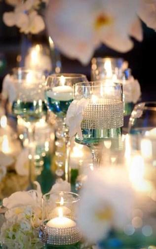 Caribbean Islands Tiffany Blue Wedding Reception Sweetheart Table