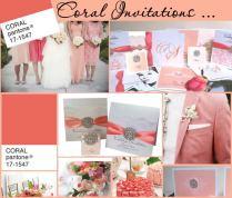 Coral Wedding Invitations Vibrant Coral Peach Wedding Colour