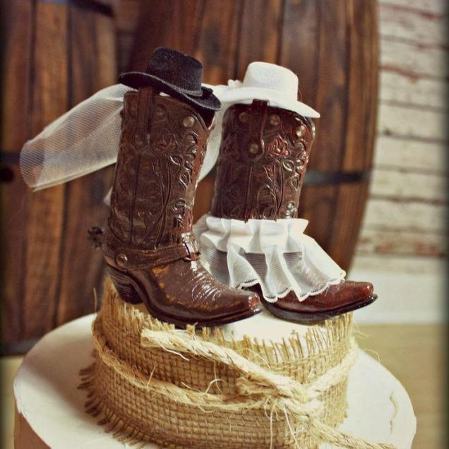 Cowboy Boots Wedding Cake Topper