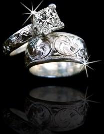 Cowboy Western Wedding Ring Sets