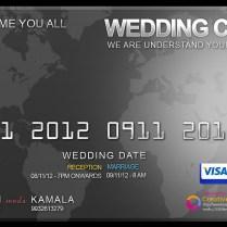 Credit Card Wedding Card