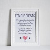 Custom Thumbprint Heart Bathroom Basket Sign 5x7 Diy Wedding