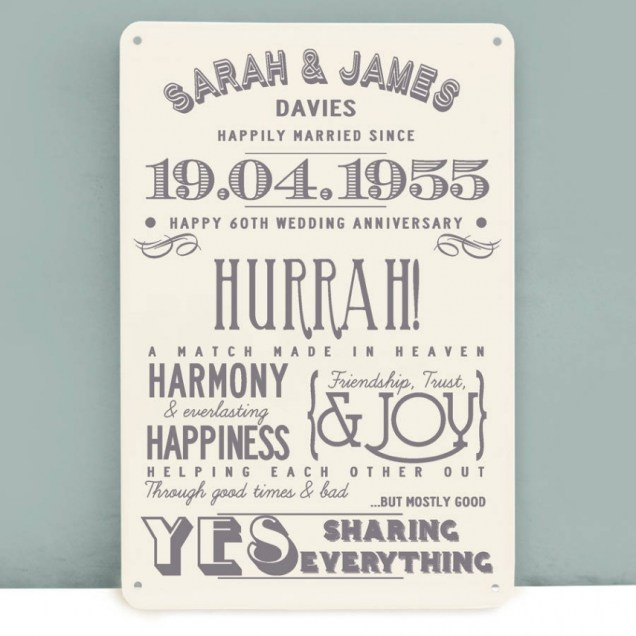 Cute 60th Wedding Anniversary Gift Ideas Gallery