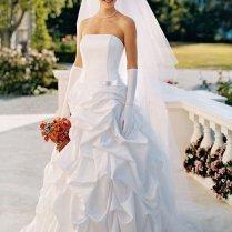 David's Bridal Wedding Dress Satin Pick