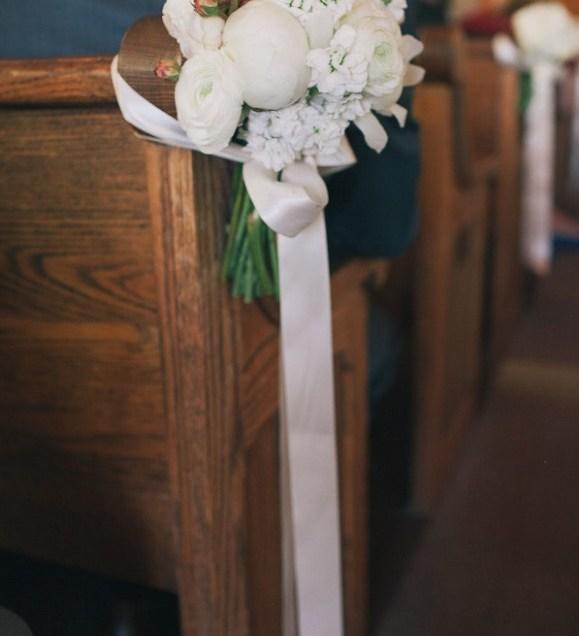 Diy Pew Decorations Church Weddings