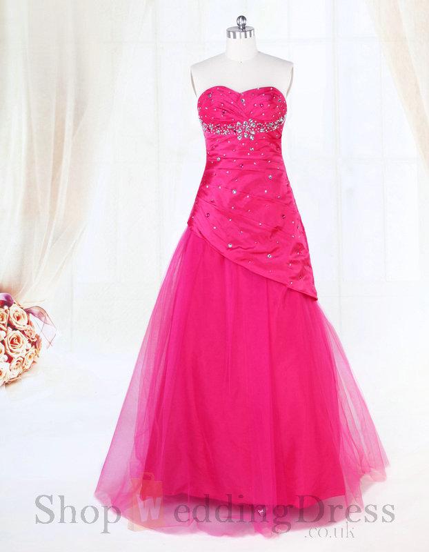 Fuschia Wedding Dress
