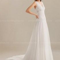 Drop Waist Beach Wedding Dress $236