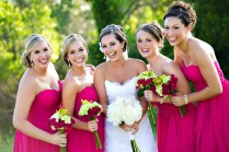 Elegant Apple Green And Fuschia Wedding