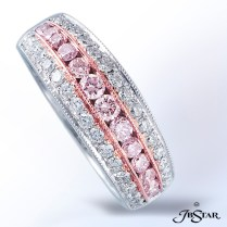 Fancy Pink And White Diamond Band