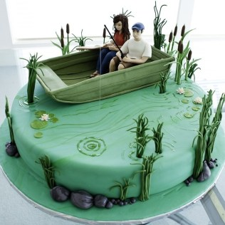 Fishing Themed Birthday Cake Toppers
