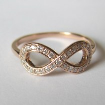 Gold And Diamond Infinity Wedding Ring