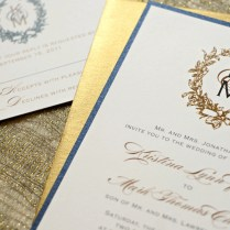Gold And Ivory Wedding Invitations