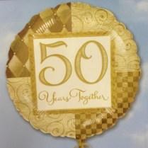 Golden Wedding Anniversary Balloon