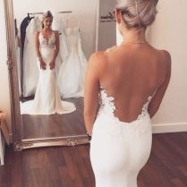 Gorgeous Backless Lace Wedding Dresses – Elite Wedding Looks