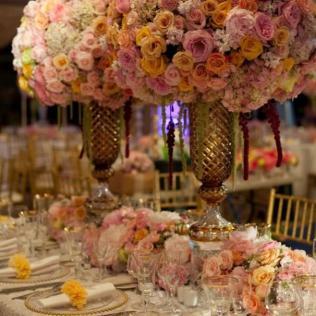 Gorgeous Large Wedding Flower Arrangements Purple Orchids Wedding