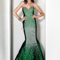 Green Wedding Dresses With Rhinestones