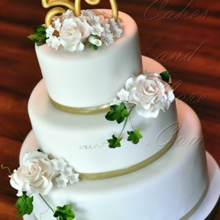 Ideas For 50th Wedding Anniversary Cakes