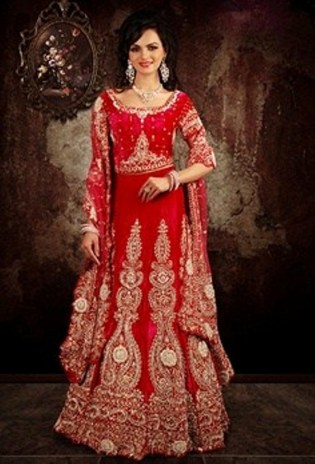 Indian Wedding Dress 2 Piece Red