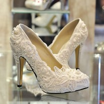 Lace And Pearl Wedding