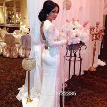 Long Sequin Wedding Dress