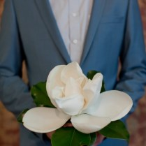 Love This Wedding Bouquet With A Magnolia In The Center