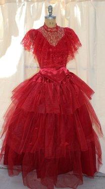 Lydia Deetz Red Wedding Dress Beetlejuice Sz 6 Med Tim