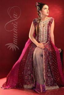 Maroon Bridal Lehenga 2013