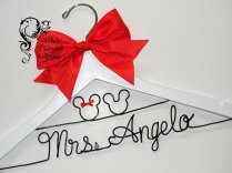 Mickey And Minnie Mouse Disney Themed Wedding Dress Hanger